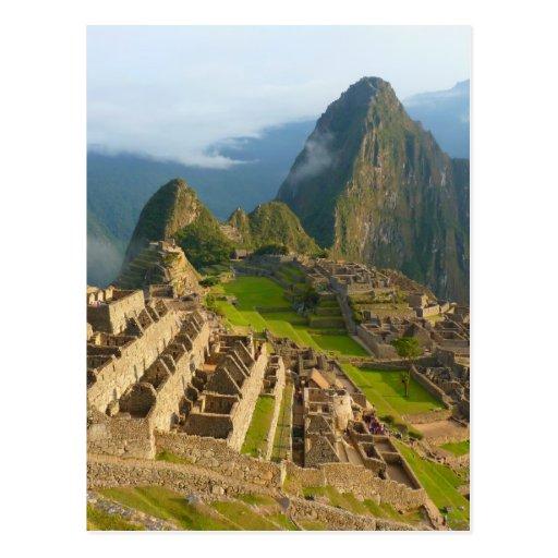 Machu Picchu ruins Post Cards