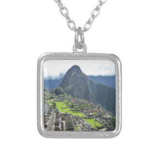 Machu Picchu Square Pendant Necklace