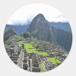 Machu Picchu sticker Round Sticker