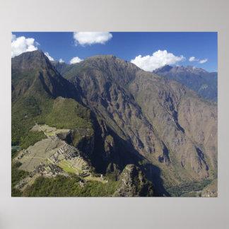 Machu Picchu viewed from Huayna Picchu, UNESCO Poster