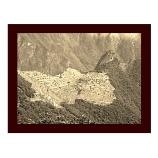 Machu Picchu Vintage Postcard
