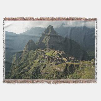 Machu Picchu Woven Throw Blanket / Wall Hanging