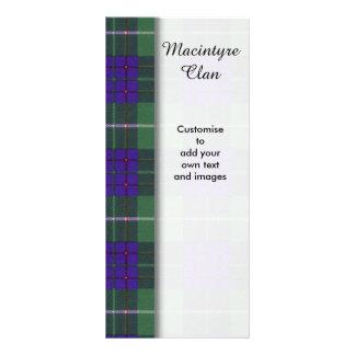 Macintyre clan Plaid Scottish tartan Rack Cards