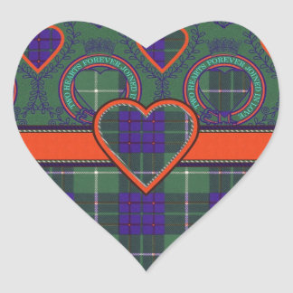Macintyre Scottish tartan Heart Sticker