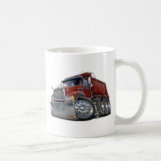 Mack Dump Truck Maroon Basic White Mug