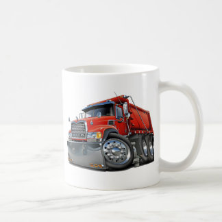 Mack Dump Truck Red Classic White Coffee Mug