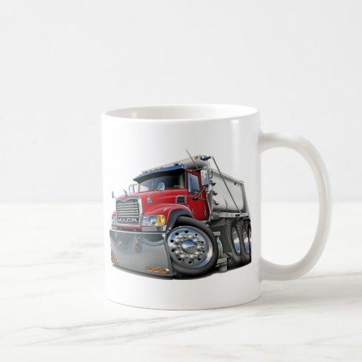 Mack Dump Truck Red-White Mugs