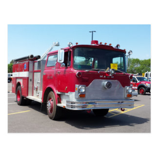 Mack Fire Rescue Truck Postcard