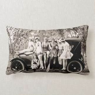 Mack Sennett Bathing Beauties and Tin Lizzie Lumbar Cushion