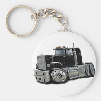 Mack Superliner Black Truck Basic Round Button Key Ring