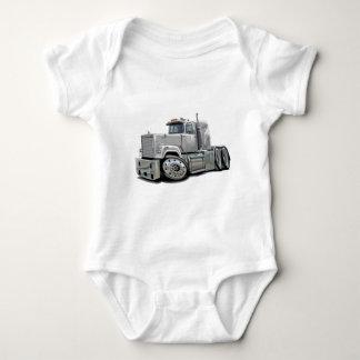 Mack Superliner White Truck Baby Bodysuit