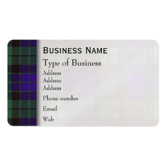 Mackay clan Plaid Scottish tartan Pack Of Standard Business Cards