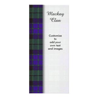 Mackay clan Plaid Scottish tartan Rack Card