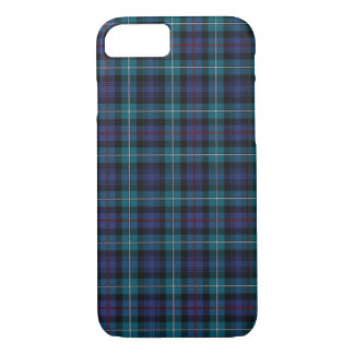 Mackenzie Clan Blue and Turquoise Modern Tartan iPhone 8/7 Case