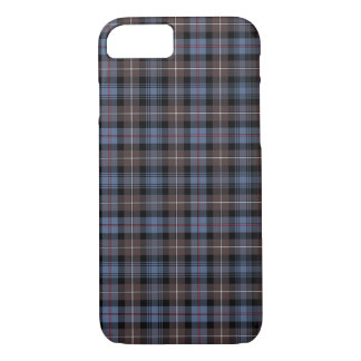Mackenzie Clan Brown and Blue Reproduction Tartan iPhone 8/7 Case