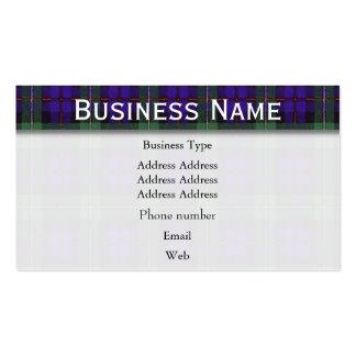 Mackenzie clan Plaid Scottish tartan Pack Of Standard Business Cards