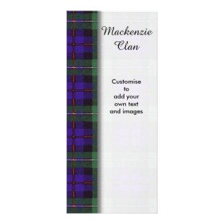 Mackenzie clan Plaid Scottish tartan Custom Rack Cards