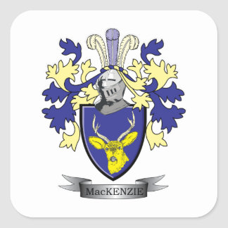 MacKenzie Family Crest Coat of Arms Square Sticker