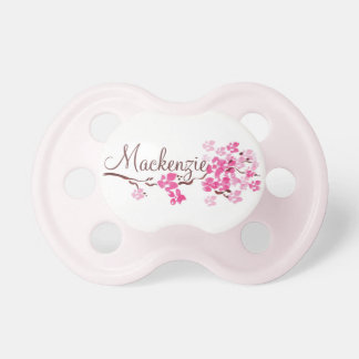 """Mackenzie"" Personalized Cherry Blossom Pacifier"