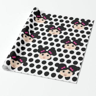 MacKenzie Pink Bows and Polka Dots Gift Wrap