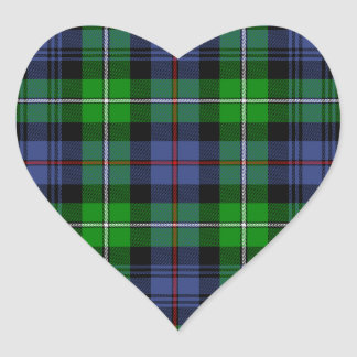 MacKenzie Tartan (aka Seaforth Highlanders Tartan) Heart Sticker