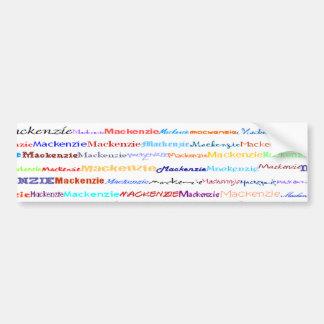 Mackenzie Text Design II Bumper Sticker