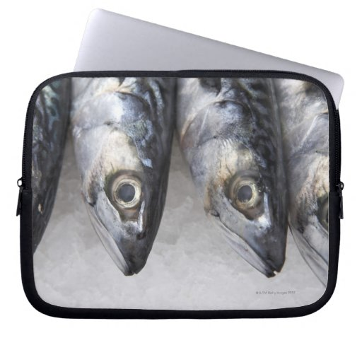 Mackerel fish, fresh catch of the day laptop computer sleeves
