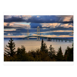 Mackinac Bridge 1060 Postcard