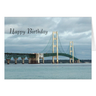Mackinac Bridge Birthday Card