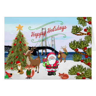 Mackinac Bridge Christmas Card