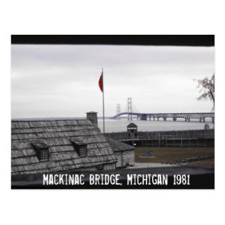 Mackinac Bridge Colonial Michilimackinac Michigan Postcard
