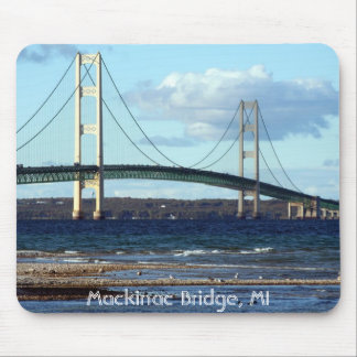 Mackinac-Bridge-in-fall, Mackinac Bridge, MI Mouse Pad