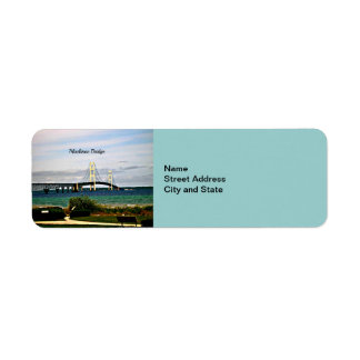 Mackinac Bridge, Mackinac Island Return Address Label