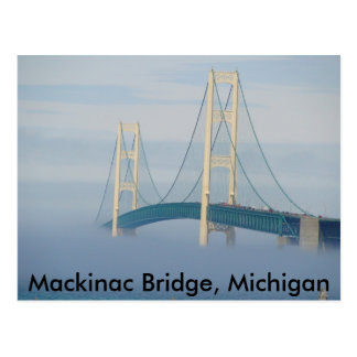 Mackinac Bridge, Michigan Postcard