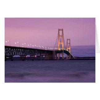 Mackinac Bridge Sunset Card