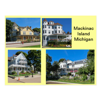 Mackinac Island Buildings Postcard