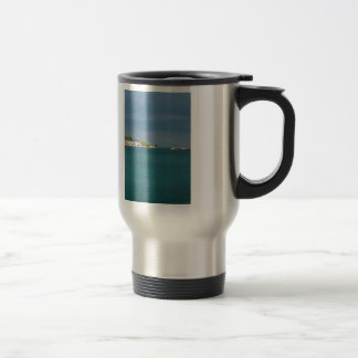 Mackinac Island Harbor Travel Mug