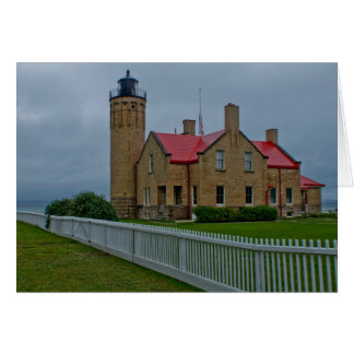Mackinac Lighthouses Card