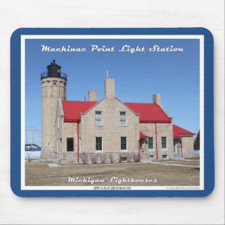 Mackinac Point Light Station Mouse Pad