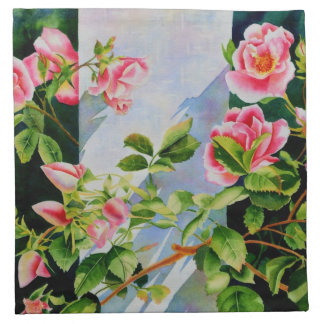 Mackinac Rose Cloth Napkin