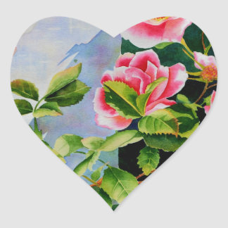 Mackinac Rose Heart Sticker