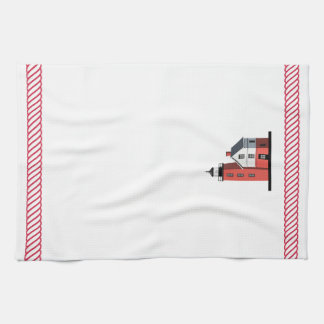 Mackinac Round Island Lighthouse Kitchen Towel