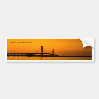 Mackinaw Bridge at Sunset Bumper Sticker