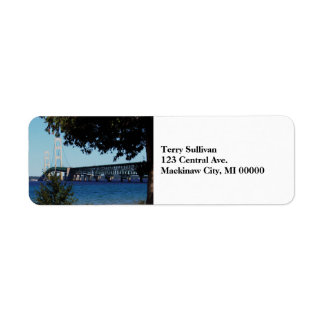 Mackinaw Bridge Return Address Label