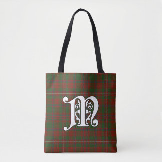 MacKinnon Clan Tartan Monogram Tote Bag