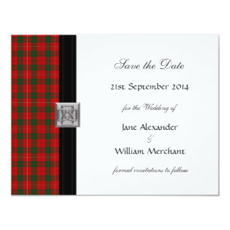 MacKinnon Tartan Plaid Save the Date Announcement