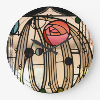 Mackintosh - Stained Glass Window, The Hill House Large Clock