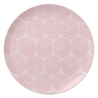 Mackintosh Style Art Nouveau Roses Pattern in Pink Plate