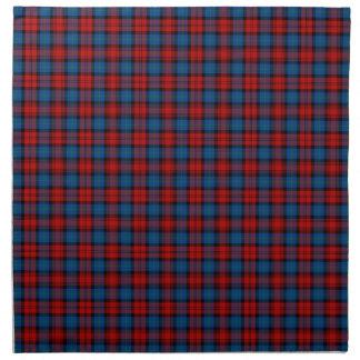 MacLachlan Clan Royal Blue and Red Scottish Tartan Napkin