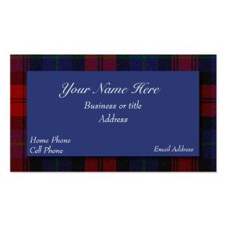 MacLachlan Scottish Tartan Plaid Business Card